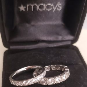Sterling silver Eternity band set